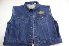 Campus Rugged Country Stitched Caesars Palace Vegas Denim Cowboy Rodeo Vest Xl