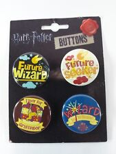 Harry Potter 4 Round Badge Buttons Pins Set Gift Set Assortment New