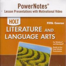 Holt Literature & Language Arts: PowerNotes 5th Course PC MAC CD presentations