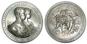 u378 Austria Wien 1881 Kronprinz Rudolph & Prinzessin Stephanie SILVER medal