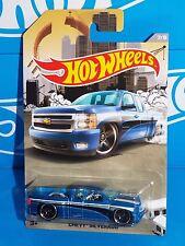 Hot Wheels Wal-Mart Exclusive RAD Trucks Series 7/8 Chevy Silverado Blue