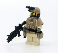 Navy Seal Desert Special Forces Minfigure made with real LEGO(R) minifig