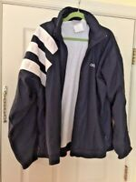 ADIDAS RUNNING ATHLETIC Navy SPORTS LINED JACKET HOODED COAT Women's SIZE L