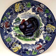 "Vintage Enoch Ralph Wood & Sons Turkey Plate Victorian Burslem England 10"""