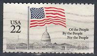 USA Briefmarke gestempelt 22c Of the people by the ... aus Markenheft / 27