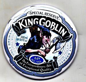 """King Goblin Fridge Magnet Beer Mat Bar Lager  3"""" 75mm Blade Sub Badge Wychwood"""
