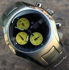 Bulova Chrono Steel cronografo acciaio straordinarie condizioni