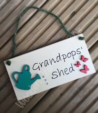 Grandad's Shed Plaque / Sign. Personalised. Father / Dad Gift.