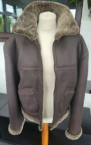 FLYING ARMY JACKET 100% REAL LEATHER BRN