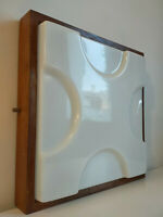 vintage wood perspex guzzini iguzzini wall sconce