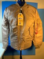 Alpha Industries MA-1 W Bomber Jacket Color Mauve New With Tags Reversible