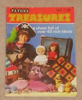 VINTAGE PATONS TREASURES KNITTING CROCHET PATTERNS BOOKLET GIFTS NOVELTIES