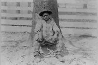 Vintage Snapshot Prisoner African American Black Man Chain Gang Photo Reprint