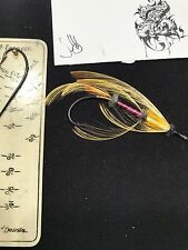 DAVID LIBBY  SALMON  FLY INDIAN CROW TOUCAN  GOLDEN PHEASAN HANDMADE HOOK TYING