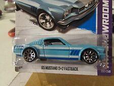 Hot Wheels '65 Mustang 2+2 Fastback HW Showroom Blue