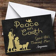 Paz en la tierra buena voluntad personalizado de tarjeta de Navidad