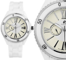 Herren Automatik Armbanduhr Weiss/Beige Keramik CA7112WH Catania von CARUCCI