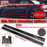 Universal 86.6'' Carbon Fiber Look Side Skirt Extensions Rocker Panel Splitters