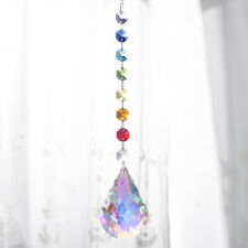 Handmade Rainbow Suncatcher Crystal Bead Drop Prism Decor Window Hanging Pendant