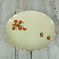 Vintage WS George Strawberry Shortcake Oval Serving Platter 153A Cavitt Shaw
