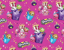 FAT QUARTER  SHOPKINS BAGS OF FUN GROCERY 100% COTTON FABRIC QUILTING SPRINGS FQ