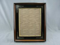"""Antique Complex Mitered Walnut East Lake Picture Frame Gold Carved 18 1/2"""" X 15"""""""