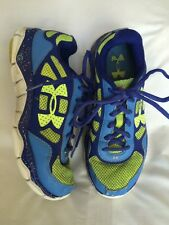 Under Armour Girls Size 4.5 Athletic Shoes VGUC Blue Tennis Gym 4 1/2