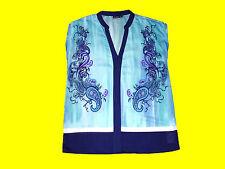 alla moda Camicia Donna Blusa Scialle Scollo a V Tgl 38 mai indossato