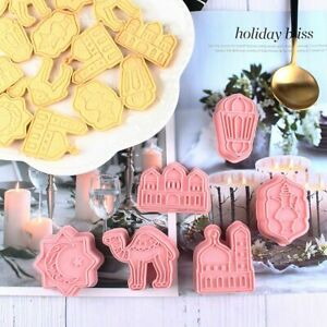 6Pcs/set EID MUBARAK Camel Moon Star Cookie Cutters Tool Ramadan Baking 6T7Y