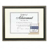 Dax N2709S6T Gold-Trimmed Document Frame with Certificate  Wood  11 x 14  Black