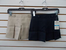 Girls Dockers Uniform Khaki & Navy 2 Button & Loop at Waist Skort Size 4 - 18.5