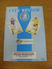 31/03/1990 Chester City v Bolton Wanderers  (Excellent Condition)