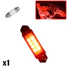 Se adapta a 1x Honda Civic MK7 2.0 239 C5W Bombilla LED Luz De Cortesía Interior Rojo Nuevo