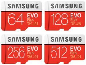 Samsung 64GB 128GB 512GB Evo Plus MicroSDHC C10 100MB/s Micro SD Memory Card Lot