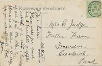 "GB VILLAGE POSTMARKS ""HEADCORN"" (ASHFORD, Kent) Thimble 21mm 1908 HÖFLEIN b. BRU"
