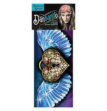 Heart Wings Lock Biker Rhinestone Danbando Bandanna Head Wrap Sweatband Headband