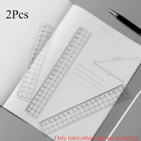 Simple Acrylic Office Drawing Supplies Transparent Ruler Stationery Math Learn
