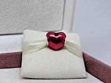 New w/Box Pandora In My Heart Fuchsia Violet Enamel  Charm 791814EN62 Heart Love