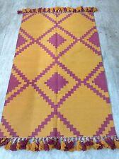 BRAND NEW 5.2 X 3 Feet Ikat Handmade Cotton Area Rug Carpet, Kilim Rug