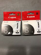 CANON Black 8 PIXMA  CLI-88K (lot of 2)