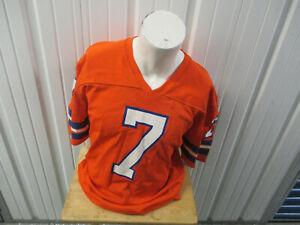 VINTAGE RAWLINGS NFL DENVER BRONCOS JOHN ELWAY #7 XL ORANGE JERSEY 80s HALL OF F