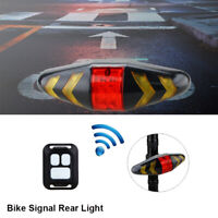 Remote Control Bicycle Rear LED Tail Light BYCICLE Wireless Turn Signals Lamp K