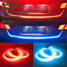 Car Tailgate Light Dual Color Flowing Type LED Light Strip Brake Turn Signal DRL