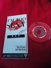 "RIGHT SAID FRED / I'M TOO SEXY / 3"" JAPAN JAPANESE SINGLE mini CD / UK DSP"