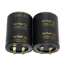 2PCS NICHICON 80V 22000UF GOLD KG Super Through Audio Electrolytic Capacitor