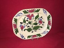 Staffordshire Brush Stroke Floral Pattern Plater Mint Ca. 1840