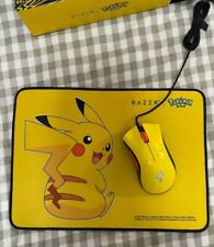 Razer DeathAdder Wired Gaming Mouse Pokemon Pikachu Edition With Mousepad