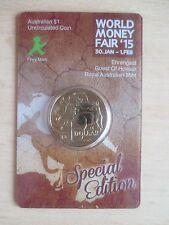 1$, ROYAL AUSTRALIAN MINT, World Money Fair 2015, Special Edition, im Blister !!