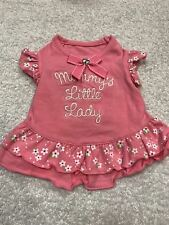 Dog Dress Size M Pet Stuff Solid Pink White Daisy Flowers Mommys Little Lady
