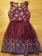 GIRLS JUSTICE DRESS SPECIAL OCCASION, HOLIDAY SIZE 8 EUC